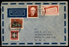 1959 airmail cover to Scotia New York USA with colorful franking