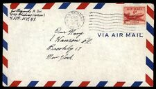 USS Midway Cvb 41 New York Ny Feb 9 1953 Single Franked Air Mail Naval Cover