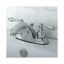 English Country Double Handle Centerset Bathroom Faucet with ABS Pop-Up Drain