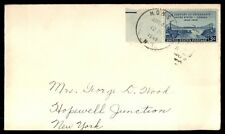MONSEY NEW YORK APR 1949 SINGLE FRANKED PMK CANCEL ON COVER TO HOPEWELL JCT