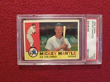 1960 TOPPS # 350  MICKEY MANTLE PSA VG 3   NEW YORK YANKEES