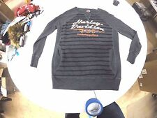 5X7G-HB3F-1X  Harley-Davidson® Womens Charcoal Long Sleeve Sweatshirt
