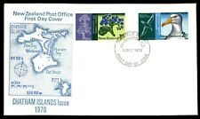 December 2, 1970 Chatham Islands New Zealand first-day cover with cachet