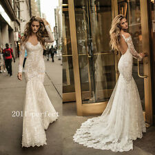 Sexy Mermaid Wedding Dresses Sheer Off Shoulder Long Sleeve Bridal Gowns Custom
