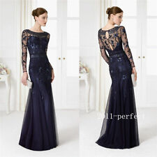Embroidery Beading Long Mother of The Bride Dresses Formal Evening Gown Custom