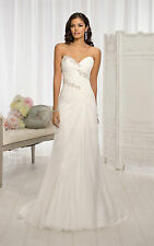 New Stock Dress White/Ivory Appliques Wedding Dress Bridal Gown Size 6 to 24