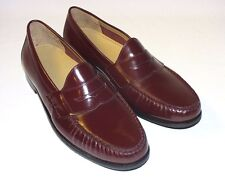 Cole Haan Ascot II Penny Slip-On Loafers, Leather Upper, Burgundy or Black, New