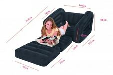 INTEX 68565 Inflatable Put Out Chair Twin Bed Mattress Sleeper