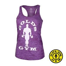 Golds Gym Ladies Tank Silhouette Burnout Stringer Top Gym Wear Sport T-Shirt