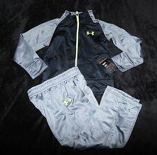 Under Armour gray black track sweats suit jacket pants boys 4 4T  $39.99 LAST 1!