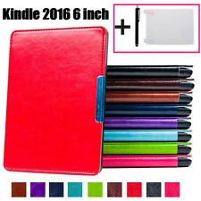 Magnetic Smart Cover Leather Case For Kindle 2016 (8th Generation) 6-inch + Gift
