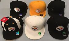 PITTSBURGH STEELERS SELECT 1 OF 6 TEAM LOGO FLAT BRIM FITTED NFL CAPS BY REEBOK