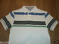 Tommy Hilfiger Men'S Custom Slim Fit Polo Shirt T-Shirt Top White Blue Stripe S