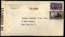 Panama censored 5597 cover airmail to New York City US multicolor franking