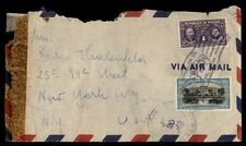 1943 Panama slogan cancel on cover to New York City US 26 rate