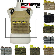 MOLLE Triple 5.56/.223 Magazine Pouches for Tactical Vest Belt Drop Vest Gun Bag