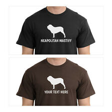 Neapolitan Mastiff Silhouette T-Shirt, Men Women Youth Long Personalized Tee dog