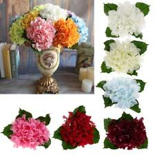 1x Artificial Hydrangea Flowers Silk Bouquet Bridal Home Wedding Vase Decor DIY