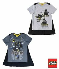 Lego Batman Boys Short Sleeve Cotton Top T-Shirt with CAPE 4-10 years New 2017