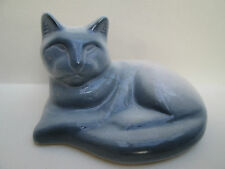 A Beautiful Ceramic Siamese Cat Ornament Figure Figurine Blue