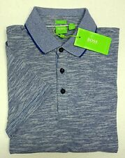 NWT $105 Hugo Boss Modern Fit Blue Shirt C-Rapino Mens Size S Short Sleeve