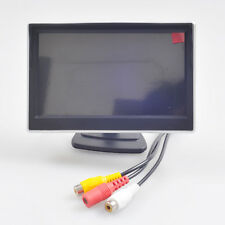 "5"" Inch Car Parking Rear View Monitor 800x480 Color LCD Screen Dual RCA Video In"