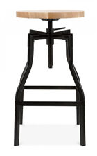 Design Lab MN Machinist Adjustable Height Swivel Bar Stool