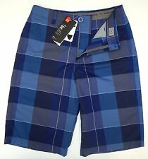 NWT $49 Under Armour Heat Gear Blue Plaid Youth Size YLG YXL Loose Fit Athletic