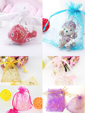 25/50/100PCs 10*12cm Organza Gift Candy Bags Wedding Christmas Favor Pouch Favor