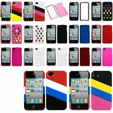 Color Design Rubberized Silicone Skin Case Cover Accessory For iPhone 4 4S 4G