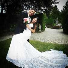 2017 Summer Sexy Mermaid Wedding Dresses Lace Strapless Lace Bridal Gowns Custom