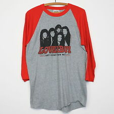 Loverboy Shirt Vintage tshirt 1982 Get Lucky Tour concert tee rock band 1980s