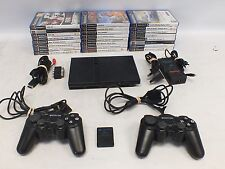 SONY Playstation 2 PS2 Console Bundle Controllers Memory Card And 24 Games - B12