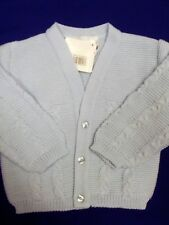 DREAM BABY BOYS BABY BLUE BUTTON UP CARDIGAN 0-3 3-6 6-9 MONTH