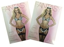 Ann Summers Fantasy NAUGHTY MAID ~ Black Lingerie Outfit / Costume inc Peep Bra