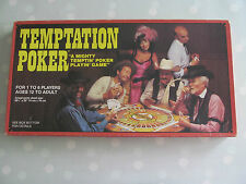 TEMPTATION POKER CARD / BOARD GAME BY WHITMAN RARE VINTAGE DATED 1982