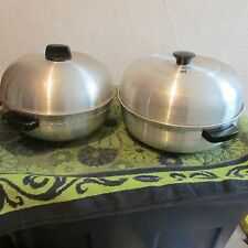 WEST BEND SILVER 3 PIECE SERVING OVEN/ BREAD WARMER
