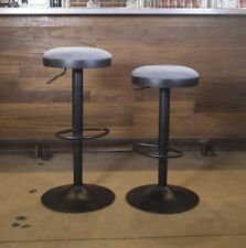 AmeriHome Classic Faux Leather Adjustable Height Swivel Bar Stool Set of 2