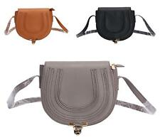 New Girls Ladies Saddle Satchel Cross Body Messenger Fashion Shoulder Bag