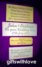 Engraving plate plaque 60mm x (your choice height) including engraving