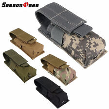 Camo Tactical Molle Pouch Tools Knife OC Spray Flashlight Holster Army Bag