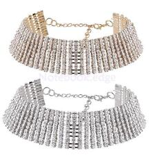 Women Faux Bling Diamond Necklace Bling Rhinestone Crystal Choker Party Evening