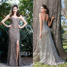 2017 Summer Plunging Evening Dresses Embroidery Flower Leaf Formal Prom Gowns