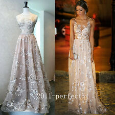 2017 Luxury Handwork Evening Dresses Shiny Sequins Formal Prom Gowns Custom New
