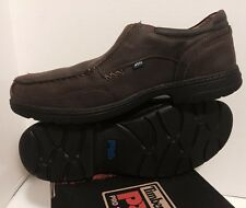 MENS TIMBERLANDS PRO SERIES BROWN LEATHER SLIP ON SAFETY SHOES
