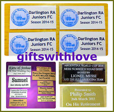 Engraving plate plaque 90mm x (your choice height) including engraving