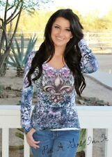 SARA MODE CRYSTAL PINK PURPLE FLEUR DE LIS SUBLIMATION WINGS SHIRT S M L XL
