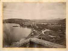 Martinique, fort de France, panorama Vintage albumen print.  Tirage albuminé