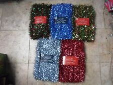 40 FT Tinsel Garland Christmas Holiday Decoration Red Gold/Red blue Silver/Blue