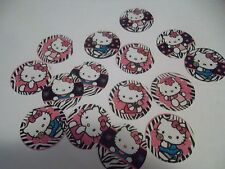 Pre Cut One Inch Bottle Cap Images Hello Kitty Zebra Print Free Shipping